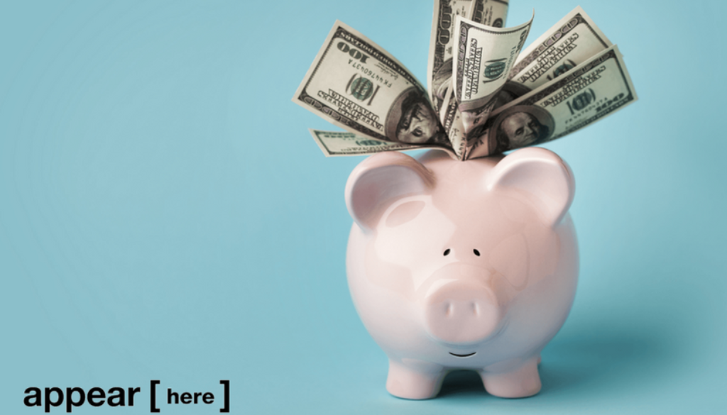 A piggy-bank stuffed with cash