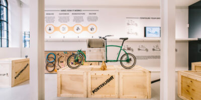 Pop-up shop Porterlight Bicycles, past winner of Space For Ideas