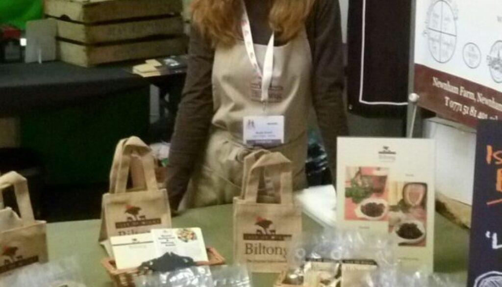 4. Sarah Greeff promoting Greeff's Biltong at a trade show